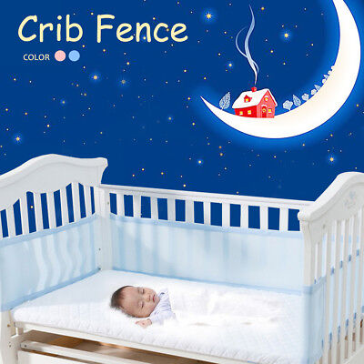 Breathing Space Infant Baby Air Cot Bumper Mesh Protection Crib Bed Bassinet AU