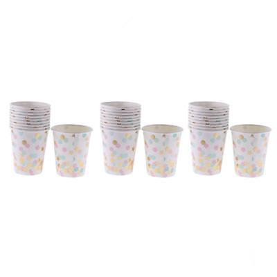 30x Colorful Polka Dot Stars Paper Cups Baby Shower Wedding Party Tableware