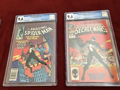 Amazing Spiderman 252 & Marvel Super Heroes Secret War 8 CGC 9.6 (Hottest movie)