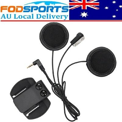 Mic/Speaker Soft Headset + Clip for Moto Bluetooth Interphone 1200M V6 Intercom
