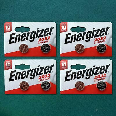 Genuine Energizer 8 X Cr2032 3V Lithium Coin Cell Battery Dl2032, Br2032 Sb-T15