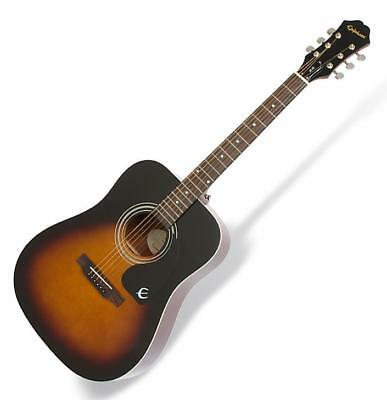 Klassische akustik Epiphone Dreadnought Westerngitarre in Vintage Sunburst Gloss