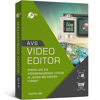 AVS Video Editor 8.0 deutsche Vollversion lifetime Download 34,99 statt 58,99 !