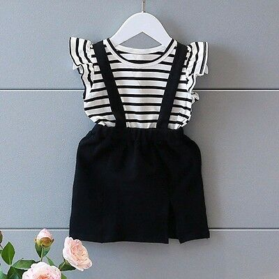 2018 Summer Kids Toddler Baby Girl Sleeveless Dress Casual Party Pageant Clothes