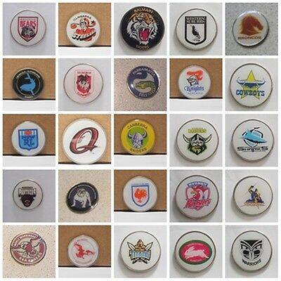 GOLF BALL MARKERS - EELS, Qld, Balmain,DRAGONS,STORM + ADD A  HAT CLIP OR DIVOT