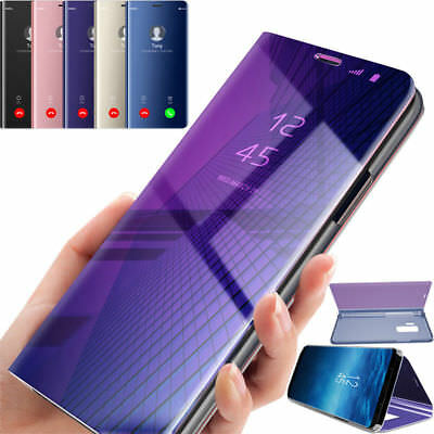 Luxury Mirror Clear S View Flip Stand Leather Cover Case For Samsung Galaxy S9+