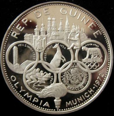 Guinea 500 Francs 1970  Munich 1972 Olympic Games Proof low mintage 1900
