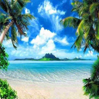 Large 8x8FT Palm Tree Backdrop Beach Background Photography Photo Studio Pr N3D2
