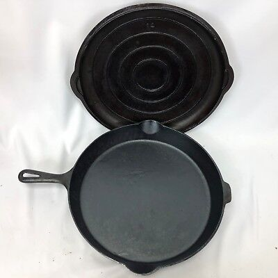 Rare Antique #14 Cast Iron Pan with Self Basting Lid