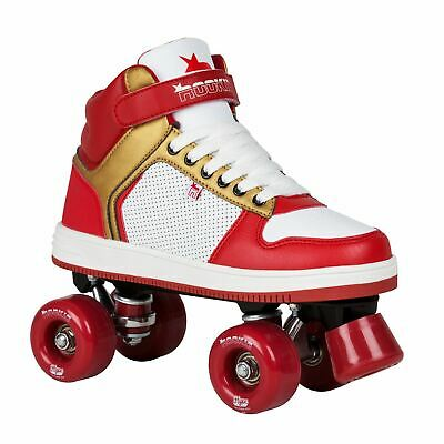 Rookie Hype Hi Top Trainer Girls Quad Skates Ventilated Strap Colourful Textured