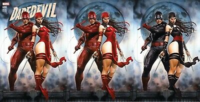 Daredevil 600 Adi Granov Red Black Virgin Variant 3 Pack Set Nm Pre-Sale 3/28