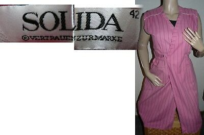 SOLIDA   Cotton Wickel Kittel Schürze Hauskleid Gr. 42  Wickelkittel, ohne Arm