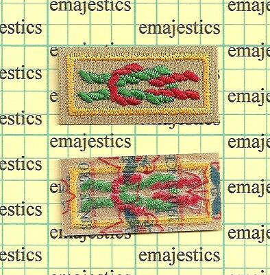 Bsa Arrow Of Light Award Square Knot Patch Mint Real Since 1910 Back