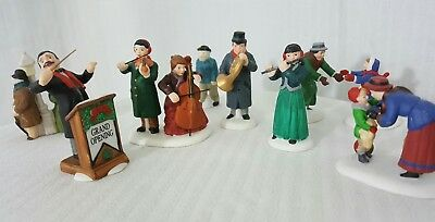 Dept 56 music conductor musicians,  street figurines 9 pieces,HV Series