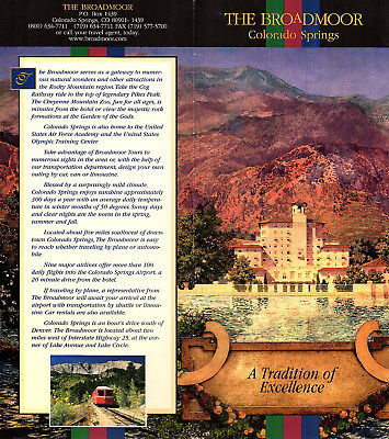 Broadmoor Hotel Colorado Springs Rocky Mountain Region Vintage Brochure Photos