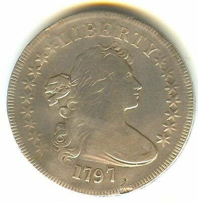 1797 Draped Bust Dollar Fine + In Grade Small Eagle