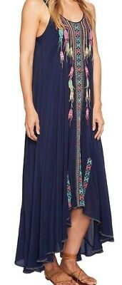 Johnny Was MIMOSA Embroidered Hi Low Flowing DRESS SZ Large NWT Retail $368