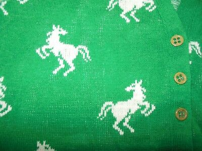 Vintage Horse print Cardigan by Wintuk The Villager