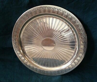 Vintage Tiffany & Co. Art Deco Sterling Silver Charger, 11""