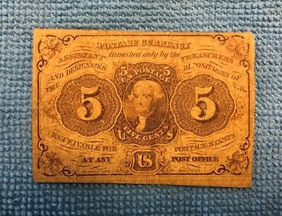 Fractional Currency--5 cents (1862)