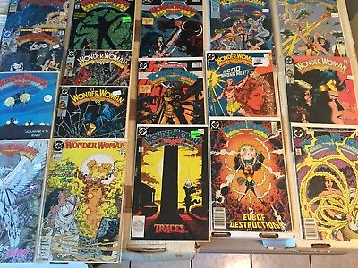 Lot of 17 WONDER WOMAN Comics Copper age All George Perez! See Photo!