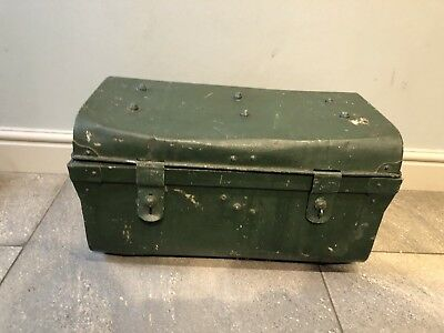 Small vintage antique metal trunk chest upcycle restoration