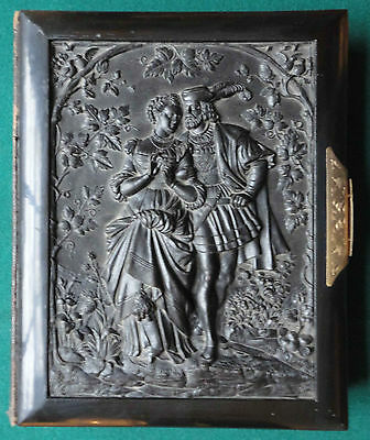 Large & Impressive Antique French Gutta Percha Victorian Cabinet CDV Photo Album