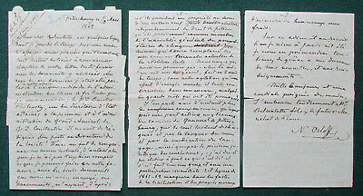 Prince Nicholas Orlov Antique Signed Letter St Petersburg 1862 Reforms in Russia