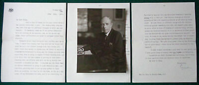 Rare Signed Letter 1st Earl Halifax to Tory Politician Baron Harlech Simon