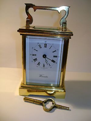 L'epee Timepiece Carriage Clock In Good Working Order With Key