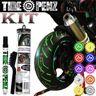 TIRE PENZ Reflective Paint Pen Kit for Motorcycle Street Bike Rubber Tires Blue