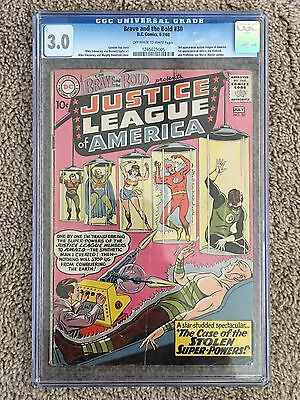 Brave and the Bold 30 CGC 3.0 (DC, 1960) 3rd JLA, 1st Amazo & Professor Ivo! NR