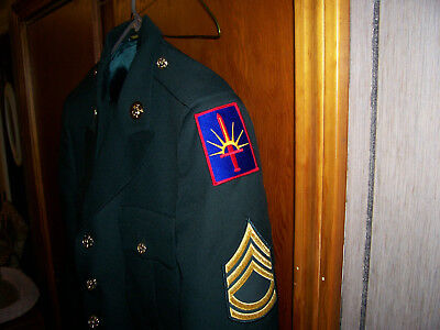 U.S. Army Dress Green Uniform Jacket and 2 pair of Paints