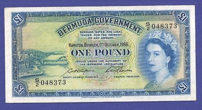 Great 1 Pound 1966  Banknote From Bermuda