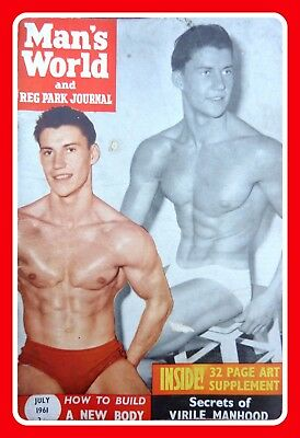 Mans World Magazine Male Semi Nude Photo Gay Physique Interest Pictorial 6x4