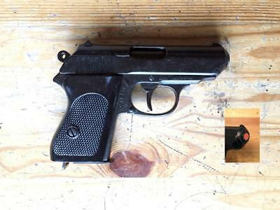 Denix Replica Bond Black Finish Semi Automatic Pistol, Non-Firing Movie Prop