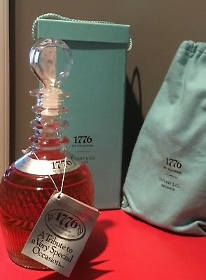 1776 by Seagram in Tiffany & Co Unopened Crystal Decanter New In Box