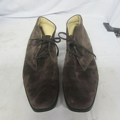 af13e5b62bf  725 TOD S BOOTS 7.5 Brown Suede Ankle Boots Made in Italy  LOVELY ...