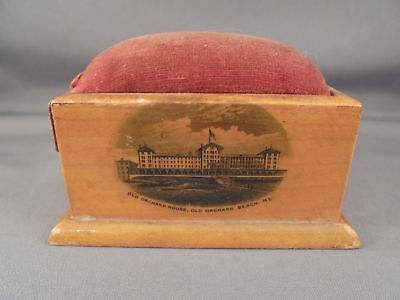 Old Antique Mauchline Ware Pincushion Old Orchard Beach House Pier Maine USA