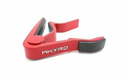 AKORD Quick Change Single-Handed Guitar Capo - Red