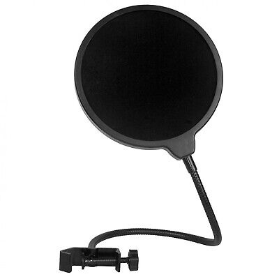 Microphone Pop Filter Swivel with Double Layer Sound Shield Guard Wind