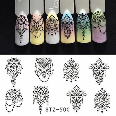 Water Transfer Nail Art Sticker Stamping Decor Manicure Jewelry Necklace Decal