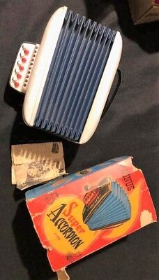 MAGNUS VINTAGE SUPER Accordion Play Toy Music 1950's Childs Accordion