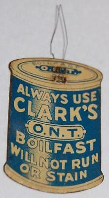 Clark's O.n.t Boilfast Thread Spool Advertising Tin Sign Premium Needle Threader