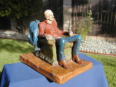 "Michael Garman 1973 ""Chairman Of The Range"" Sculpture – Rare Colors"