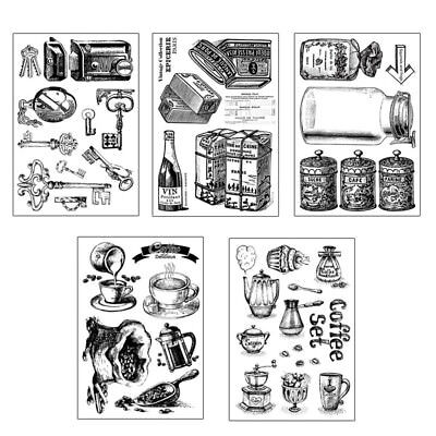 Coffee Clear Stamps Scrapbook Paper Craft Clear stamp scrapbooking