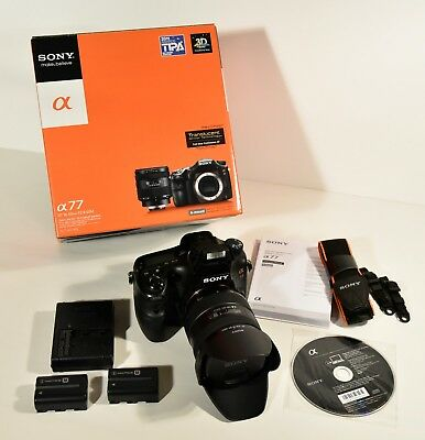 SONY Alpha SLT-A77VQ 24.3MP DSLR DIGITAL CAMERA KIT W/ 16-50 LENS and EXTRA BATT