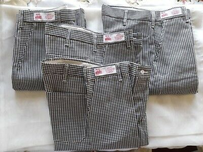 4 Pairs of  EWC Chef Pants Size 30X42. NEW