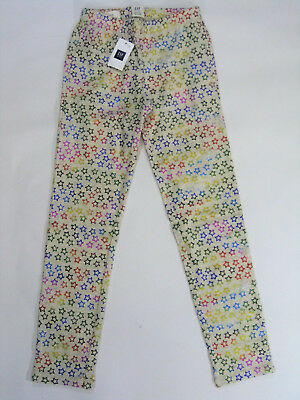 NWT Gap Kids Girls Size 4-5 6-7 8 or 10 Oatmeal Rainbow Star Leggings For Good