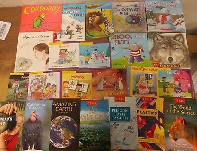Lot of 50 K-5 Scholastic Learn to Read Picture Mix Set Kid Children Book #H98 NR